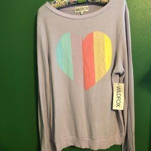 Wildfox Rainbow Heart Sweater